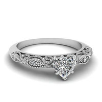 AMAZING 2.81CT WHITE HEART STUD 925 STERLING SILVER ENGAGEMENT AND WEDDING RING