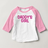 DADDY'S GIRL childrens kids toddlers T-shirts