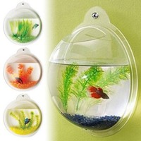 Fish Bubble - Deluxe Acrylic Wall Mounted Fish Tank w/Bonuses