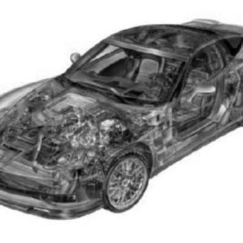 """Corvette Zr1 Cutaway Poster Black and White Poster 24""""x36"""""""