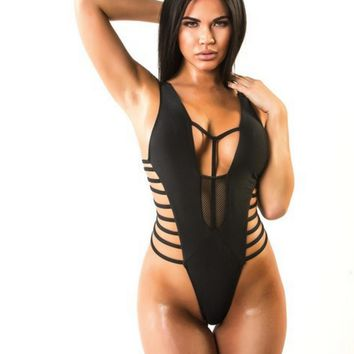 Sexy new multi - rope design sexy bikini sexy one - piece swimsuit