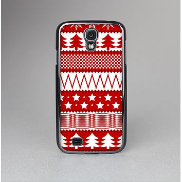 The Red and White Christmas Pattern Skin-Sert Case for the Samsung Galaxy S4
