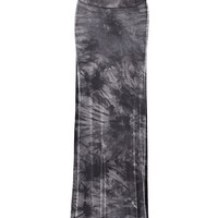 Lock and Love LL Womens Tie Dye Fold Over Maxi Skirt