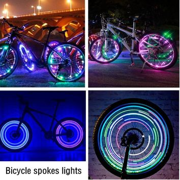 New Arrival Waterproof Bike Light Bicycle Wheel Spoke Light High Quality Colorful Waterproof 20 LED Bicycle Accessory Flashlight