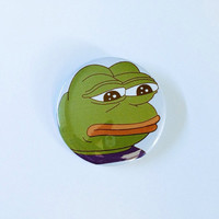 Pepe the Sad Frog Button-1.5 &2.25 inch pinback button