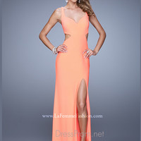 Sheath Fitted La Femme Prom Dress 21175