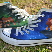 Handpainted Lion King Shoes by creatorscircle on Etsy