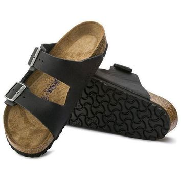 CREYNW6 Sale Birkenstock Arizona Soft Footbed Oiled Leather Black 0752481/0752483 Sandals
