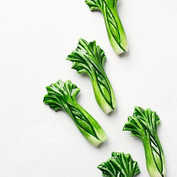 Celery brooch, funny bright jewelry, green vegetables vegetarian veggie fashion jewelry