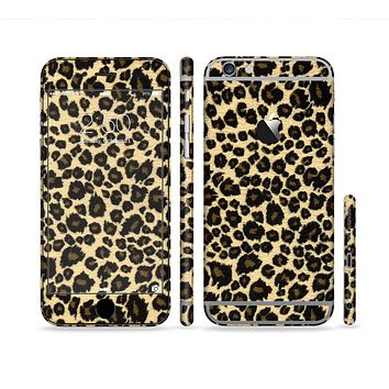 The Small Vector Cheetah Animal Print Sectioned Skin Series for the Apple iPhone 6 Plus