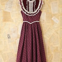 Free People Free People Vintage Maroon Floral Dress