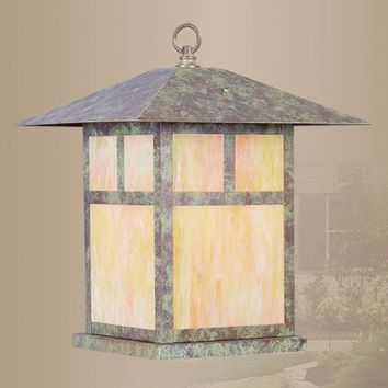 Livex Lighting 2144-16 Montclair Mission Verde Patina Outdoor Hanging Lantern
