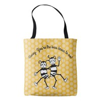 Bee's knees dancing bees tote