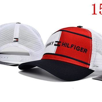TOMMY HILFIGER embroidery Strap Cap Adjustable Golf Snapback Baseball Hat