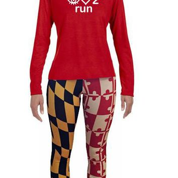 ARS I love 2 Run LS technical running tee- Womens