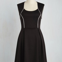 Talking 'Bout My Delegation Dress in Onyx | Mod Retro Vintage Dresses | ModCloth.com