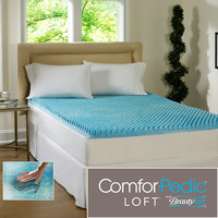Beautyrest 3-inch Sculpted Gel Memory Foam Mattress Topper