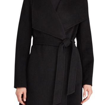 Lauren Ralph Lauren Double Face Wool Blend Wrap Coat | Nordstrom