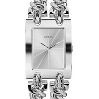 Guess Ladies Brilliance On Links Silver-Tone Watch
