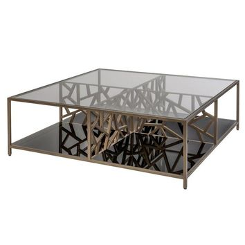 Cracked Ice Coffee Table | Gilt Medium Bronze