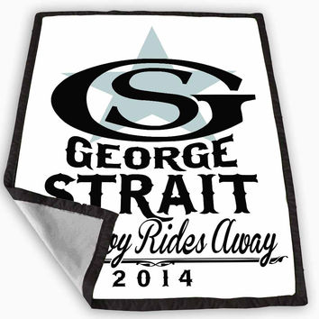 George Strait The Cowboy Rides Away Blanket for Kids Blanket, Fleece Blanket Cute and Awesome Blanket for your bedding, Blanket fleece **