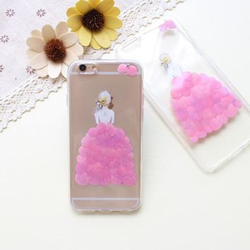 a girl case 100 handmade dried flowers cover for iphone 7 7plus iphone 6 6s plus gift box b61  number 1