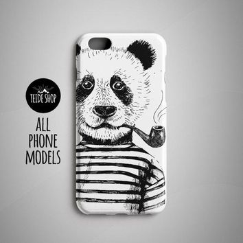 Panda Hipster iPhone 8 Case iPhone 8 Plus Case Huawei P9 Case Lite iPhone 7 Case iPhone 7 Plus Case Phone Case Hipster Animal Panda Painting