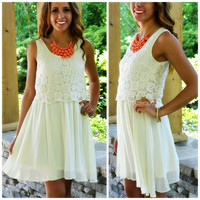 Dream Decadence Ivory Babydoll Dress