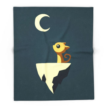 Society6 Moon Cat Blanket
