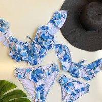 Mommy And Me Matching  Set Two Piece Floral Blue