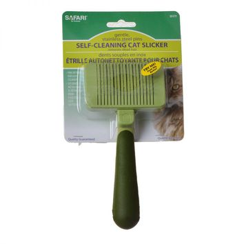 Safari Self Cleaning Slicker for Cats