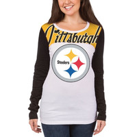Pittsburgh Steelers New Era Womens Athletic Baby Jersey Long Sleeve T-Shirt – White