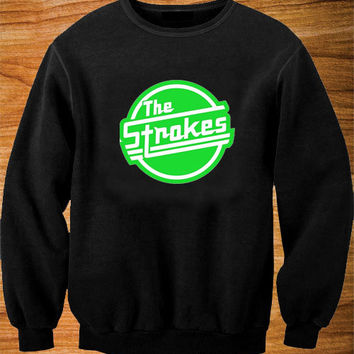 The Strokes sweater Black and White Sweatshirt Crewneck Men or Women Unisex Size