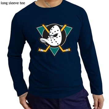 men t shirt male cotton tee-shirt Mighty Ducks tshirts Retro NHL Inspired League USA Fan Gift shubuzhi brand tshirt gift