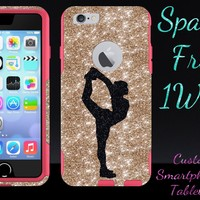 iPhone 6 Case - OtterBox Commuter Series - Retail Packaging - 4.7 iPhone 6 Glitter Black Cheerleader Scorpion Gold/Pink