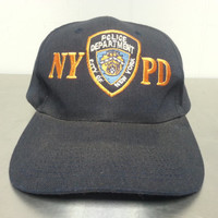 Vintage NYPD City of New York Police Department Snapback Dad Hat Orange Logo Sheild and Badge Cap