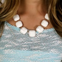 High Tide Ivory Square Stone Necklace