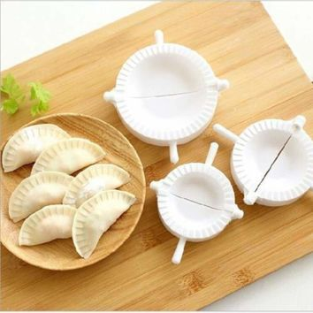 3pcs Dumpling Mould Pierogi Turnover Ravioli Empanada Dough Press Mould Maker