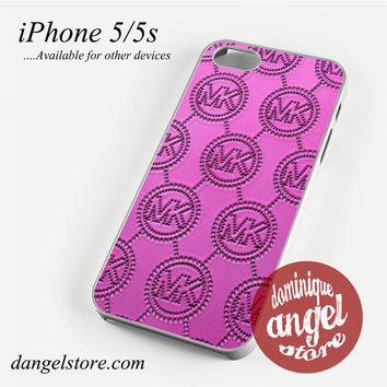 MK in Pink Phone case for iPhone 4/4s/5/5c/5s/6/6 plus