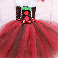 Beautiful Baby Gingerbread Man Tutu Dress for Baby Girl 6-18 Months Old Baby Christmas First Christmas