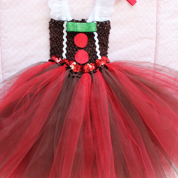 beautiful baby gingerbread man tutu dress for baby girl 6 18 months old baby christmas
