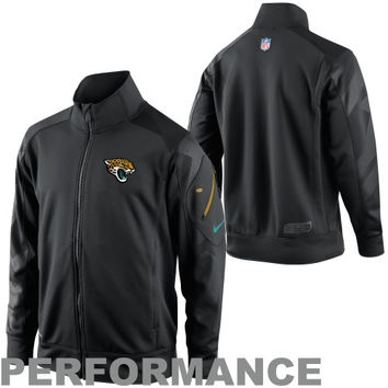 Nike Jacksonville Jaguars  Fly Rush Half Zip Performance Sideline Jacket - Black