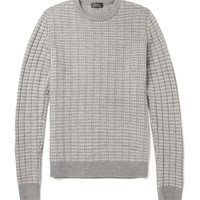 A.P.C.Patterned Ribbed Merino Wool Sweater|MR PORTER