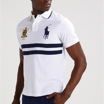 Polo Ralph Lauren Custom Fit - Polo Shirt - White Multi - Beauty Ticks