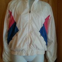 Vintage 80s Colorblock Zip Front Descente Windsuit Jacket S/M