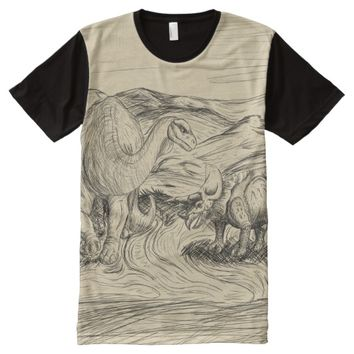 Classic Dinosaurs All-Over-Print T-Shirt