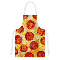 "KESS Original ""Pizza My Heart"" Pepperoni Cheese Artistic Apron"