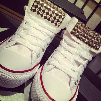 Custom Studded Converse All Star High Tops - Chuck Taylor - ALL SIZES & COLORS!!!
