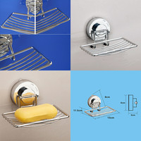 New Strong Suction Cup Wall Soap Dish Holder Soap Storage Box for Bathroom Shower Basket Tray Rack