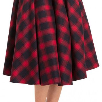 May Plaid Full Circle Skirt | Blame Betty